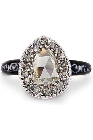 Pragnell 18kt yellow and silver Georgian diamond ring
