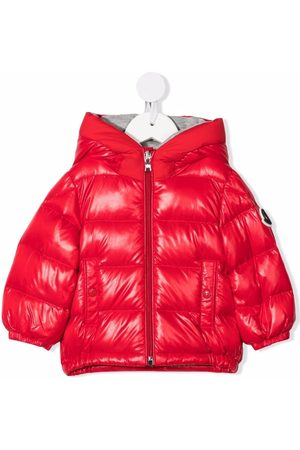 Moncler Enfant Padded quilted hooded down jacket