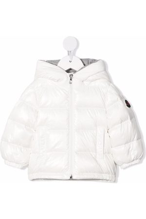 Moncler Baby Jackets - Logo-print padded hooded down jacket