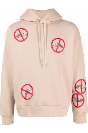 DUOltd Embroidered-patch hoodie