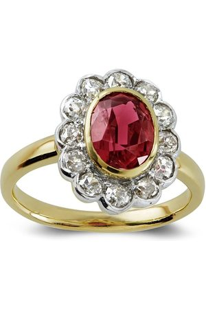 Pragnell Women 18kt yellow and white spinel ring