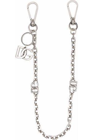 Dolce & Gabbana Men Keychains - DG logo charm clip-on chain
