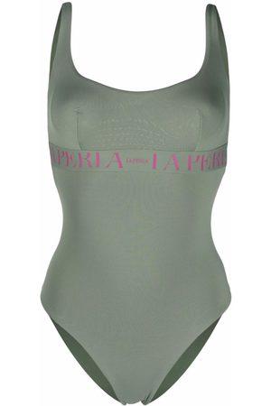 La Perla Women Swimsuits - Logo embroidered swimsuit