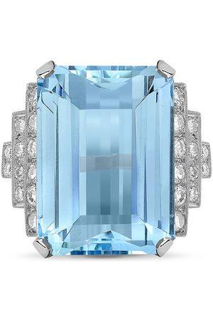 Pragnell Women Platinum aquamarine and diamond cocktail ring