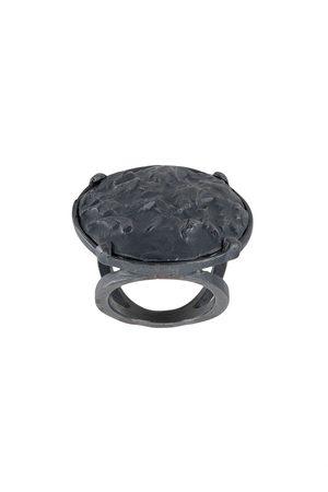 Detaj Textured oval ring