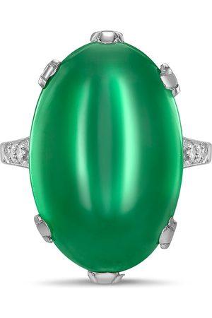 Pragnell Women Platinum Art Deco jadeite and diamond ring