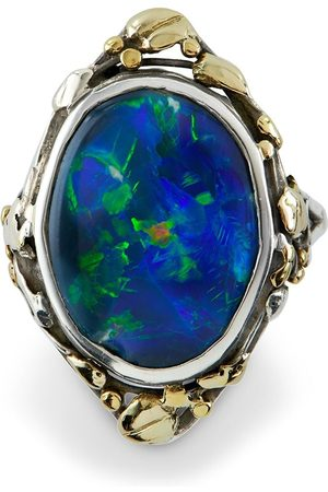 Pragnell Women Rings - 18kt yellow gold and Art Noveau opal ring
