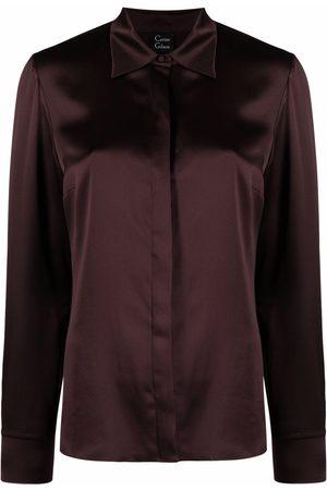 CARINE GILSON Women Long Sleeve - Long-sleeve silk pyjama top
