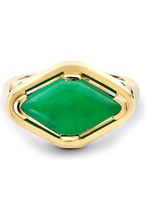 Pragnell 18kt yellow Contemporary Jadeite ring