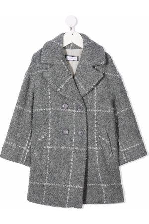 MONNALISA Grid-pattern double-breasted coat