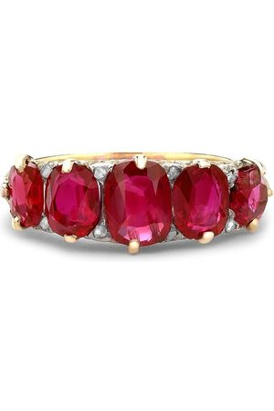 Pragnell Women 18kt yellow Victorian Burmese ruby ring