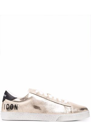 Dsquared2 Metallic-effect low-top sneakers