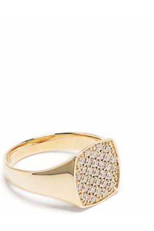 TOM WOOD 9kt yellow mini cushion diamond ring