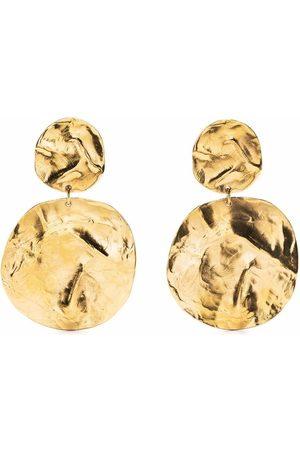 Yves Saint Laurent 1980s hammered clip-on earrings