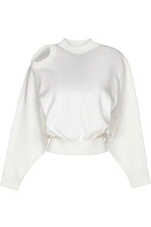 A.W.A.K.E. MODE Cutout Cropped Sweatshirt