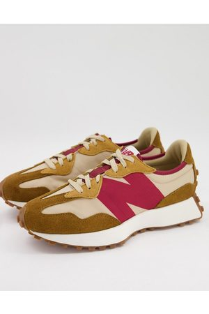 New Balance 327 trainers in tan and pink-Neutral