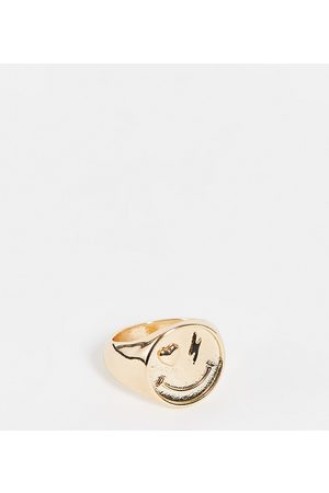 Reclaimed Vintage Women Rings - Inspired happy face ring in