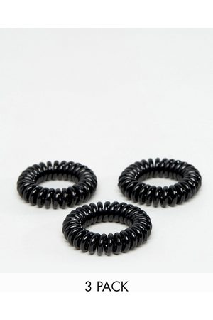 Invisibobble Women Hair Accessories - 3 pack Power Strong Hair Ties - Black-No colour