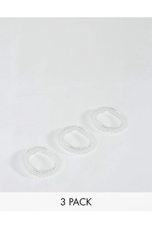 Invisibobble 3 pack Slim Hair Ties - Crystal Clear-No colour