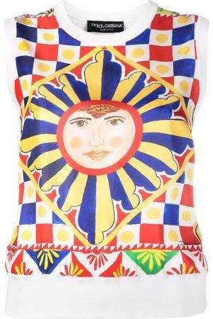 Dolce & Gabbana Women Camisoles - Graphic-print silk vest