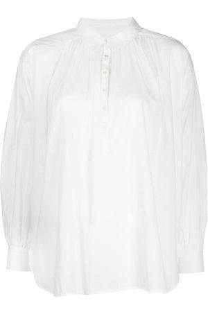 Nili Lotan Miles pullover button-down blouse