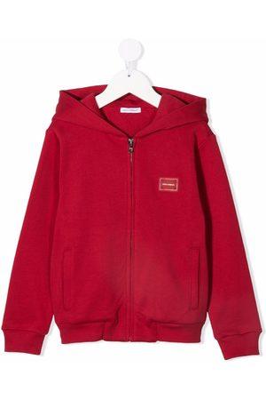 Dolce & Gabbana Kids Logo-patch zip-up hoodie