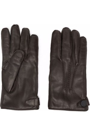 Billionaire Perforated-detailing leather gloves