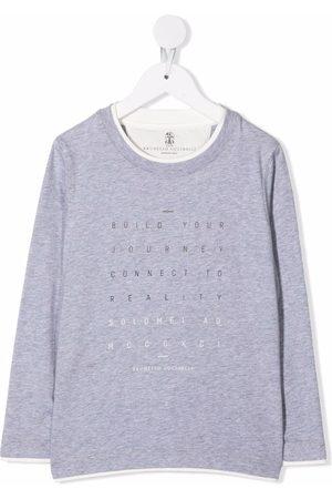Brunello Cucinelli Logo-print longsleeved T-shirt