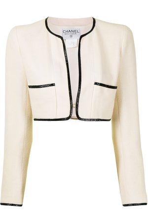 Chanel Pre-Owned 1995 collarless cropped jacket
