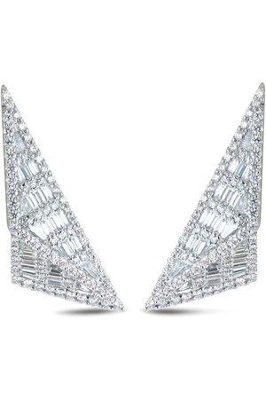 Kavant & Sharart 18kt white gold Origami Trillion diamond earrings
