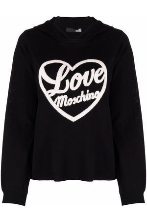 Love Moschino Embroidered-logo hoodie
