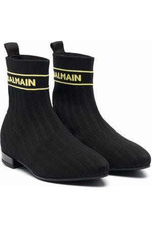 Balmain Logo-sock boots