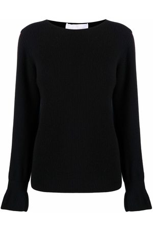 AMI AMALIA Women Jumpers - Side-stripe merino sweater