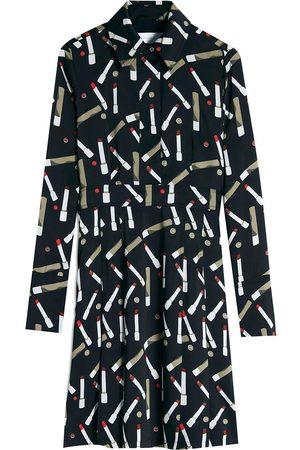 Victoria Victoria Beckham Women Casual Dresses - Lipstick-print shirtdress