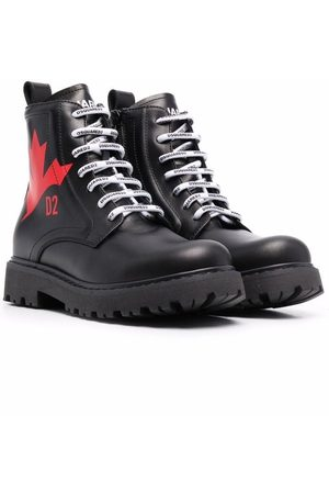 Dsquared2 Kids Lace-up leather boots