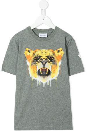 MARCELO BURLON Tiger-print cotton T-shirt