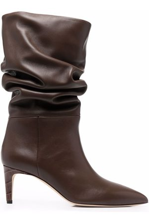 PARIS TEXAS Slouchy mid-calf leather boots