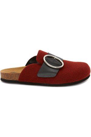 J.W.Anderson Women Loafers - WOMEN'S FELT BUCKLE LOAFER