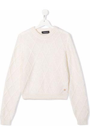 VERSACE Argyle-check pattern jumper