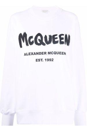 Alexander McQueen Logo-print cotton sweatshirt