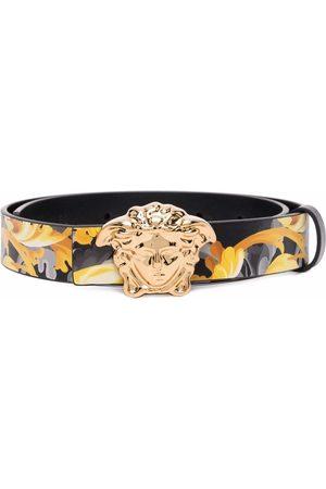 VERSACE Boys Belts - Medusa Head Baroccoflage-print leather belt