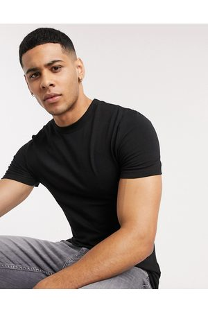 ASOS Men Short Sleeve - Organic blend muscle fit t-shirt with crew neck in