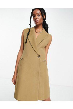 & OTHER STORIES Women Sleeveless Dresses - Sleeveless blazer dress in -Neutral