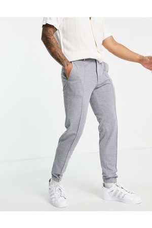 ASOS DESIGN Slim ankle grazer jersey smart joggers in