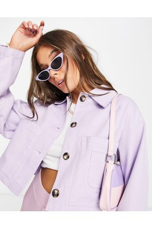 ASOS Cropped shacket in lilac