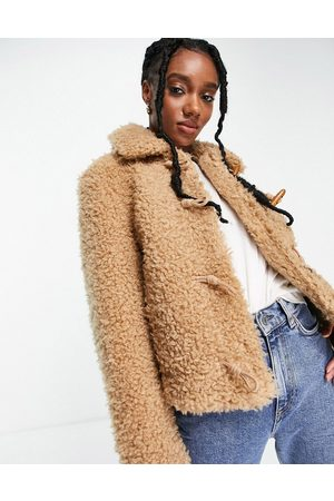 & OTHER STORIES Recycled short faux shearling jacket in -Neutral