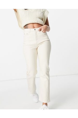 & OTHER STORIES Favourite organic blend cotton straight leg high rise jeans in ecru-Neutral