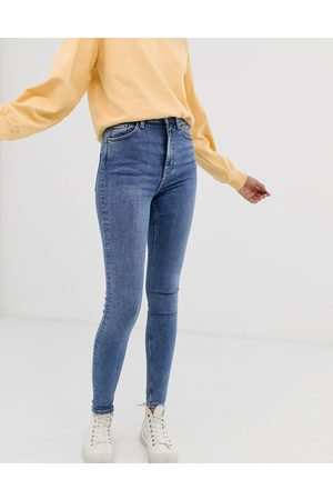 Weekday Women High Waisted - Organic cotton blend high waisted skinny jeans in mid