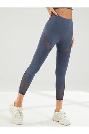 YOINS Women Leggings - Sports Patch Mesh Super Stretch High Waist Leggings
