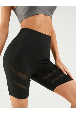 YOINS Patch Mesh Super Stretch Sports Shorts